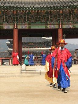 Gyeongbokgung, Palace, South, Korea, Seoul, Traditional