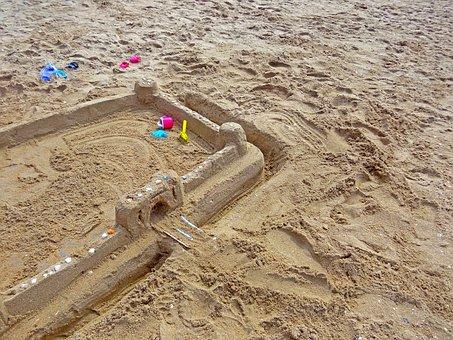 Sand Beach, Sandburg, Sand Toys, Beach, Blade, Rake