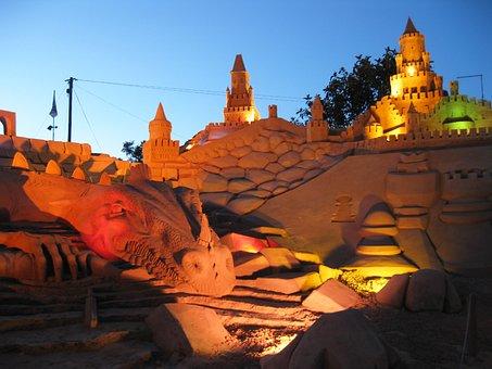 Sandburg, Fiesa, Sand Sculpture, Sand, Sculpture, Art