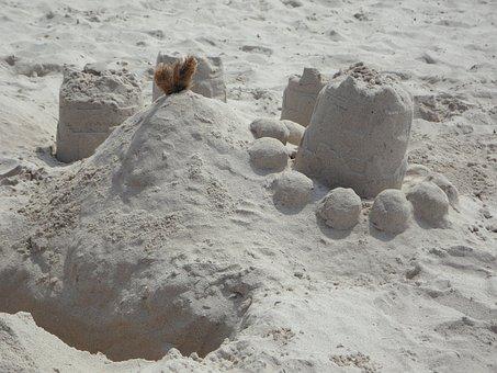 Sandburg, Sand, By The Sea, Beach, Holiday, Play