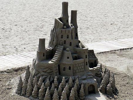 Sandburg, Sand, Holiday, Beach, Sand Sculpture
