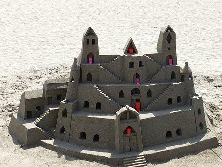Sandburg, Sand Sculpture, Beach, Sand, Sculpture