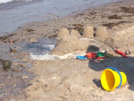 Holiday, Baltic Sea, Sea, Beach, Sand, Sandburg, Moulds