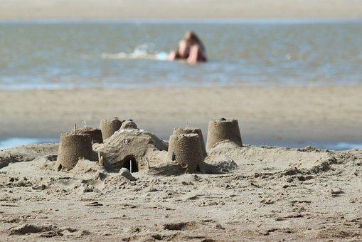 Sandburg, Beach, Sand, Holiday, Play, Sea, By The Sea