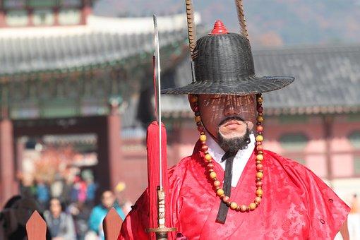 Korea, Guard, Seoul, Asia, Traditional, History