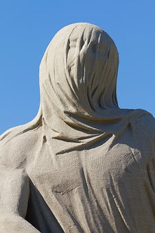 Cloth, Head, Shroud, Sand Sculpture