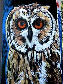 Graffiti, Owl, Bird, Sprayer, Urban, Street Art