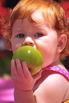 Apple, Girl, Children, Healthy, Green, Summer, Child