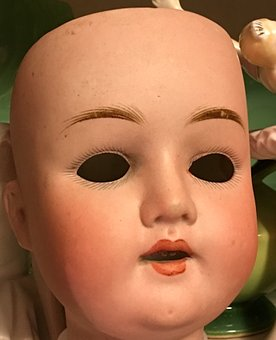 Vintage, Doll, Head, Baby, Toy, Old, Breakable