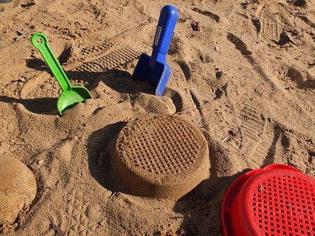 Sandburg, Play, Toys, Sand, Digging, Sieve