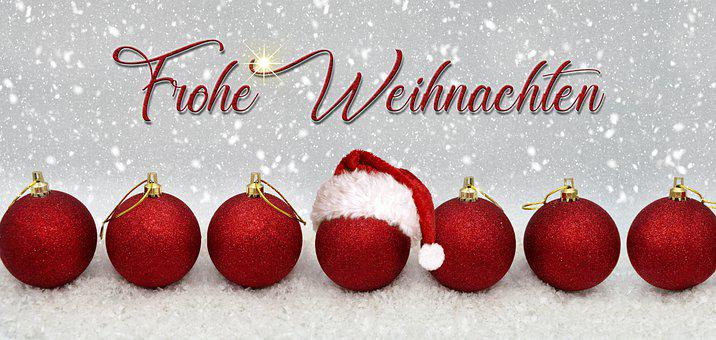 Merry Christmas, Greeting, Christmas Bauble, Balls