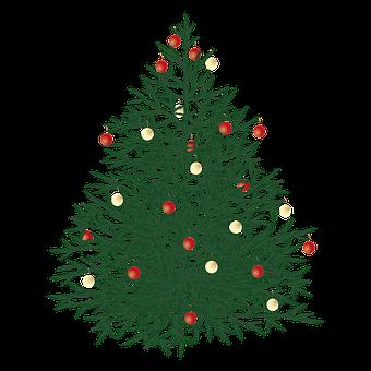 Christmas Tree, Christmas, Tree, Baubles