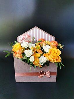 Bouquet, Flowers, Bouquet In A Box, Floral