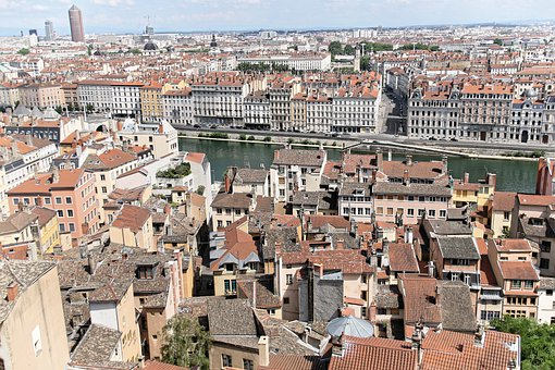 Lyon, Unusual, Roofs, Architecture, City