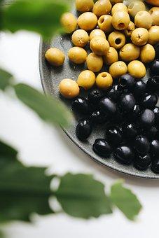 Olives, Green Olives, Black Olives, Fruits, Ingredients