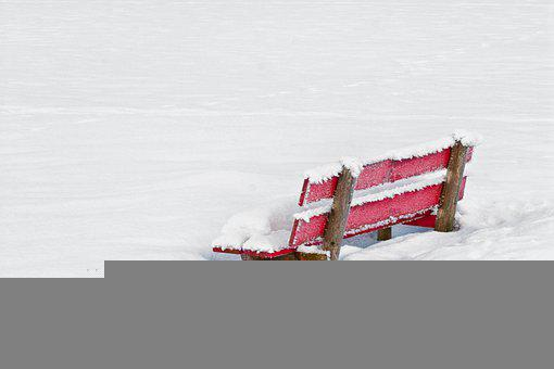 Bank, Bench, Nature, Landscape, Wooden Bench, Snow