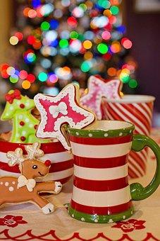 Cup, Mug, Hot Chocolate, Hot Cocoa, Cookies