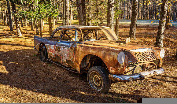 Old Race Car, Old Stock Car, Rusted Car, Abandoned Car