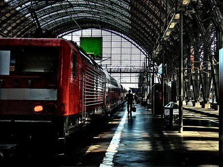 Railway Station, Traffic, Remote Traffic, Train