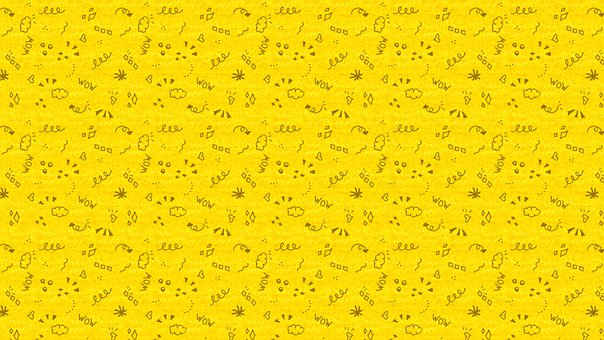Yellow, Doodle, Hand Drawn, Line Art, Whimsical