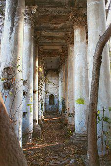 Architecture, Pillars, Abandoned, Building, Columns