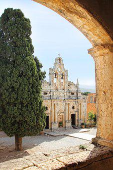 Monastery, Church, Archway, Religion, Architecture