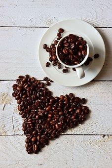 Coffee, Heart, Cup, Beans, Coffee Beans, Mug, Caffeine