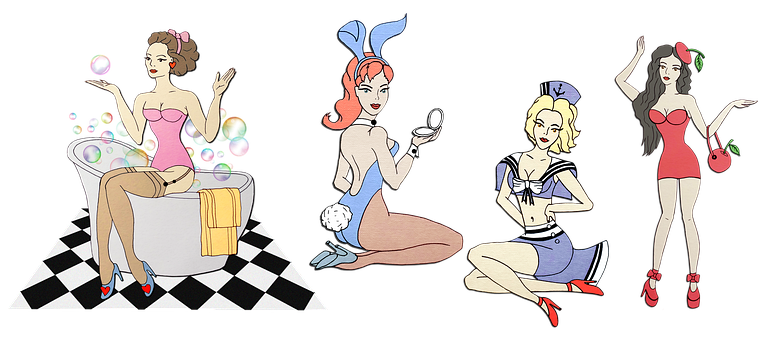 Women, Girls, Playboy, Glamour, Pin-up Girl, Femininity