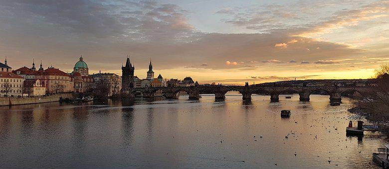 Prague, Charles Bridge, River, Vltava River, Bridge