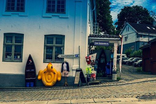 Street, Store, Shop, Mannequin, Sidewalk, Corner