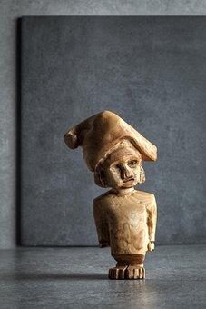 Gnomo, Follett, Sculpture, Wood, Ulivo