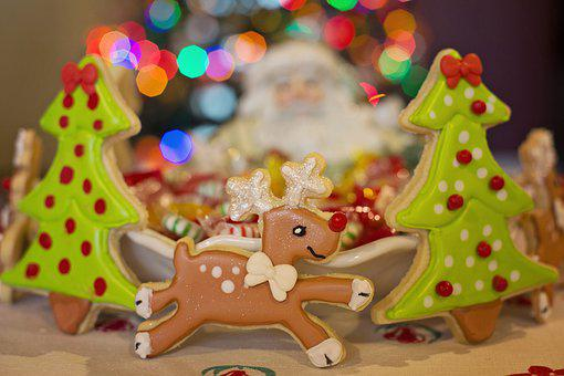 Christmas, Cookies, Food, Dessert, Snack
