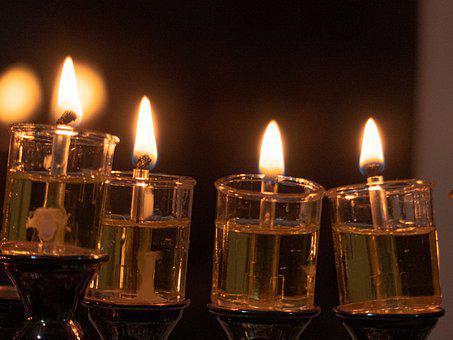 Hanukkah, Candles, Menorah, Hanuka, Jewish, Chanukah