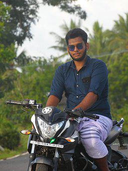 Happy Face, Bike Rider, Bike Lover, Ns 200, Travellers
