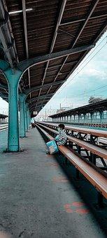 Kid, Mask, Train Station, Child, Little Boy