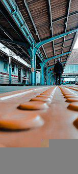 Platform, Train Station, Railway, Railroad