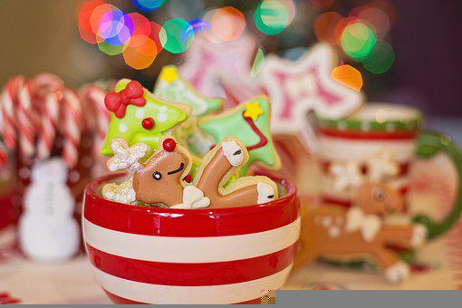 Christmas, Cookies, Dessert, Food, Snack