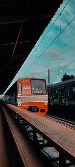 Train, Station, Platform, Railway, Railroad