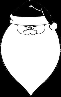 Santa, Christmas, Face, Santa Claus, Beard, Noel