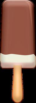 Ice Cream, Popsicle, Sweet, Dessert, Chocolate