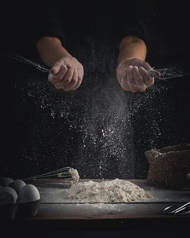 Chef, Flour, Dough, Baking, Dusting Flour, Dust