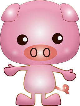 Pig, Animal, Chibi, Cartoon, Kawaii Animal, Cute