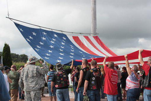 Flag Raising, Us Flag, Kokomo Veteran's