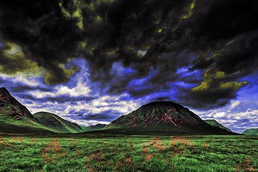 Storm, Crazy, Cloud, Mountain, Sky, Wind, Scotland