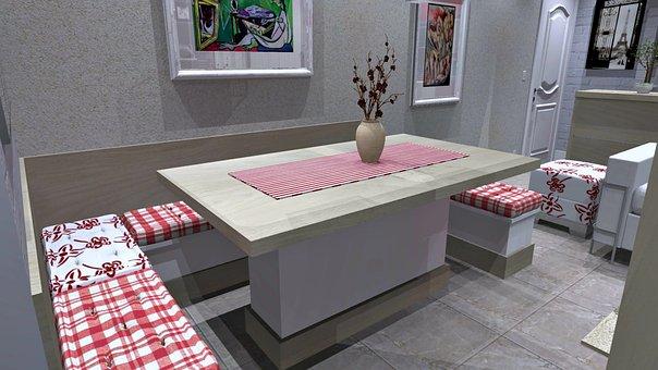 Room, Interior Design, Furniture, German Corner