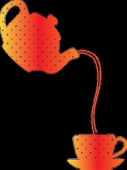 Pouring Tea, Teapot, Teacup, Drink, Pouring, Tea