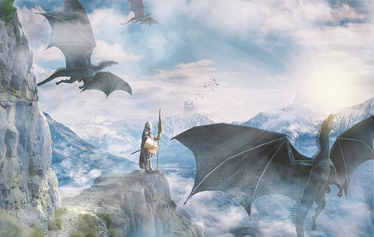 Wallpaper, Fantasy, Mystical, Dragons, Fantasy Word
