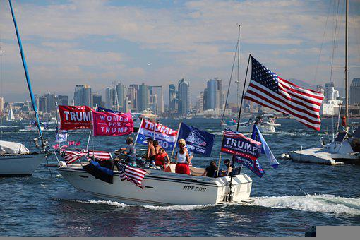 San Diego, California, Boat Parade, Trump