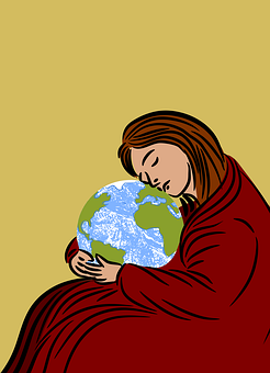 Earth, Mother, Protection, Background, Card, Decorative