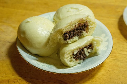 Steamed Buns, Red Bean Bread, Snack, Food, Cuisine